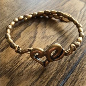 Alex & Ani gold heart bracelet